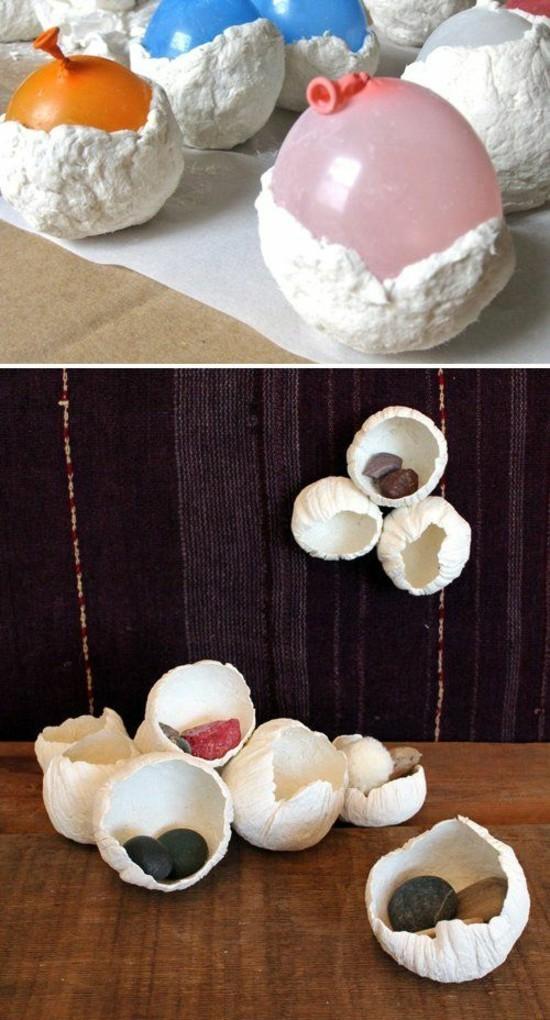 tischdeko selber machen mit pappmaschee zu ostern