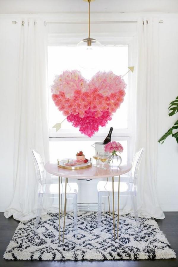 tolle Fensterdekoration Valentinstag
