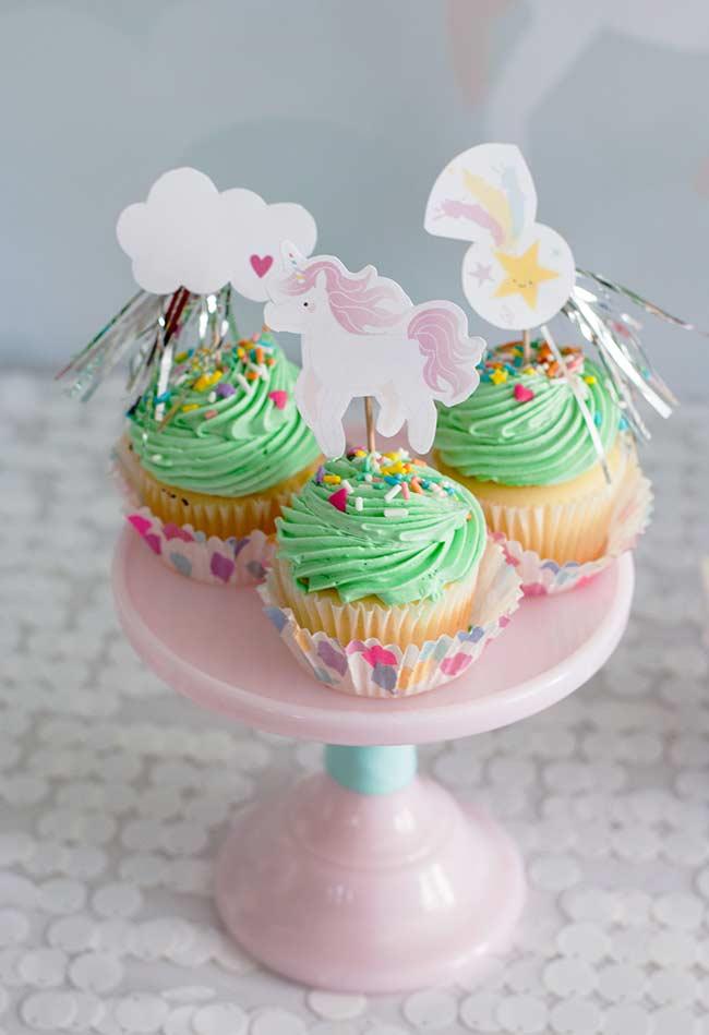 wunderbare muffins Einhorn bastelideen