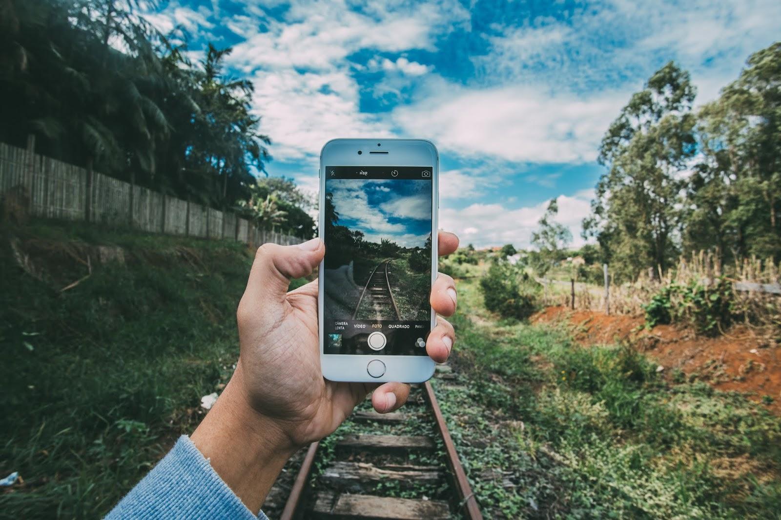 zug auf dem weg kamera apps