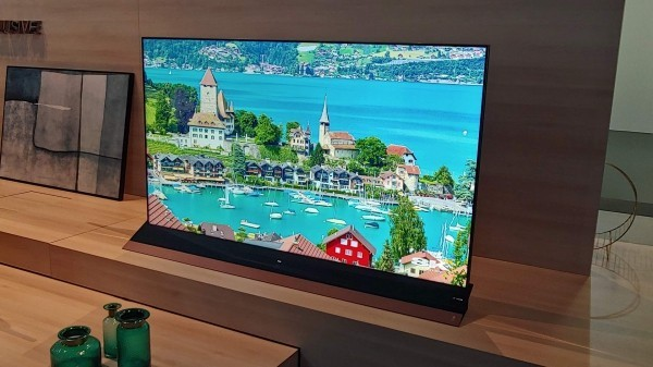 8K TV eine tolle Stadansicht
