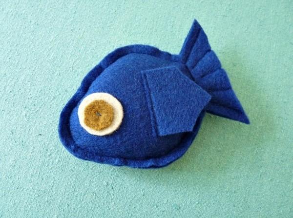 Babyspielzeug nähen Filz Fisch cooles Kinderspielzeug