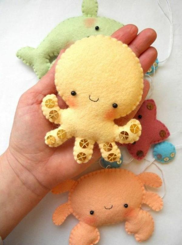 Babyspielzeug nähen Filz cooles Kinderspielzeug