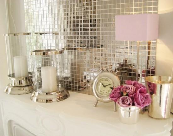 Badezimmer mit weiblichem Gespür Wandspiegel