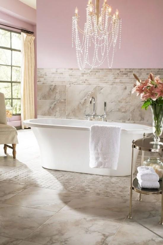 Badezimmer mit weiblichem Gespür modernes Baddesign Retro