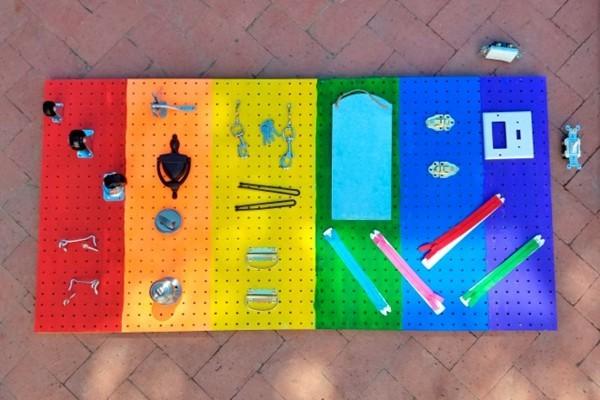 DIY Kinderspielzeuge activity board selbst bauen