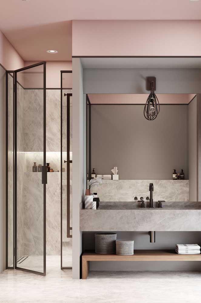 Einrichtung Ideen badezimmer mit viel transparrenz