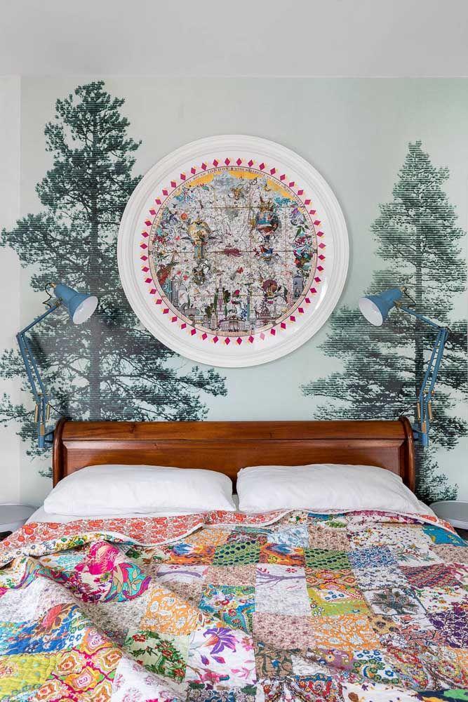 Einrichtung Ideen bunte schlafzimmergestaltung