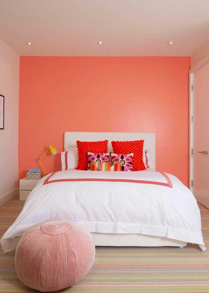 Einrichtung Ideen rosa akzentwand