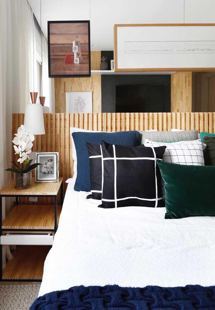 Einrichtung Ideen schlafzimmer mit dekokissen