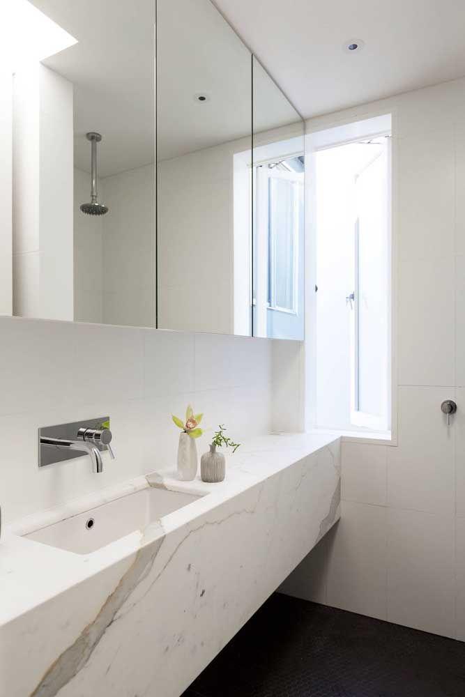 Einrichtung Ideen weißer waschbecken und spiegel