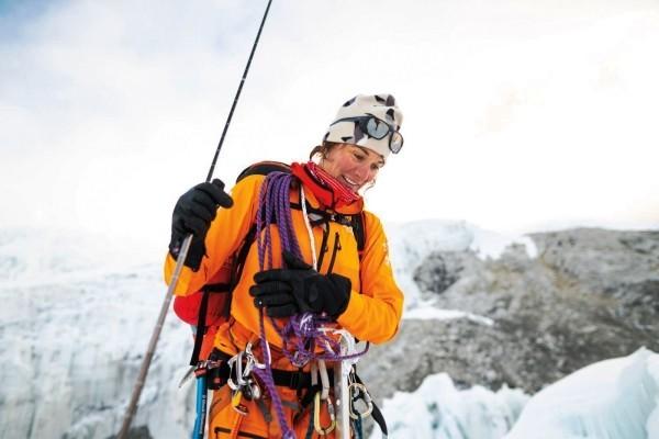 Futurelight – der weltweit fortschrittlichste Stoff von The North Face teamführerin mit orange jacke