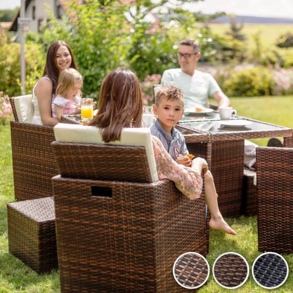 Gartenmöbeltrends 2019 – mit Rattan alles richtig machen braune farbe im garten familien