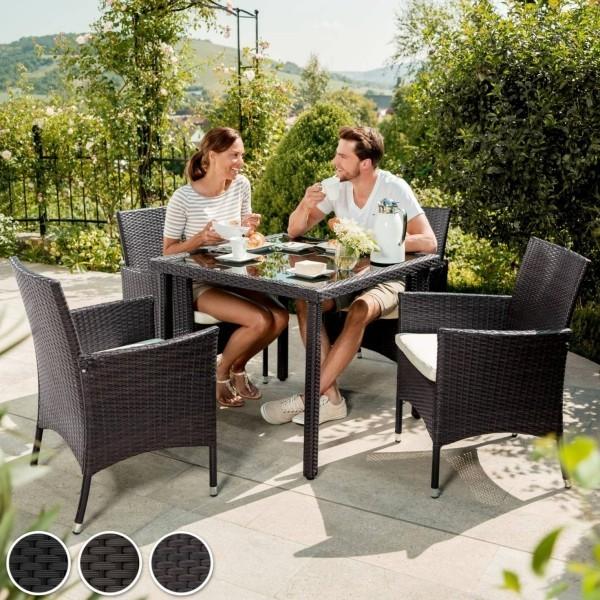 Gartenmöbeltrends 2019 – mit Rattan alles richtig machen esstisch klein für vier schwarz