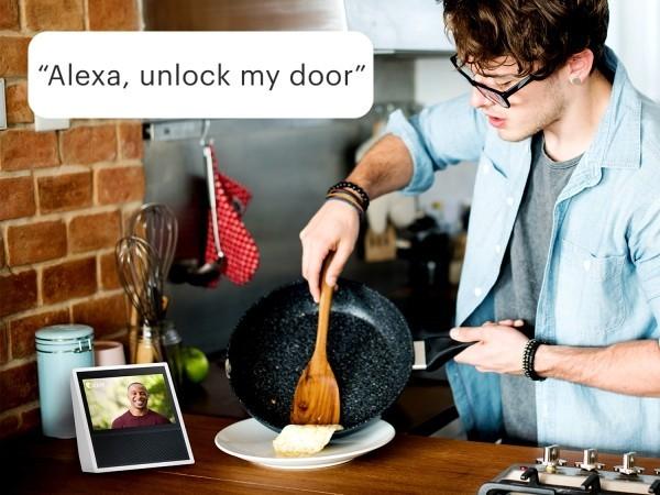 Hi-Tech Smart Türklingel mit Kamera von August Home handlos die tür öffnen und wieder schleißen