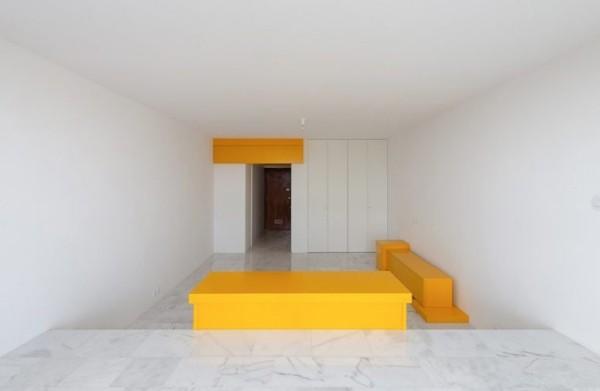 Kleine Wohnung minimalistisches Raumkonzept etwas kahl aussehen