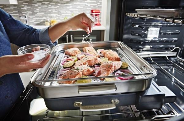 Mit KitchenAid Smart Ofen + das eigene Kocherlebnis modernisieren dampfaufsatz zum dämpfen gesund