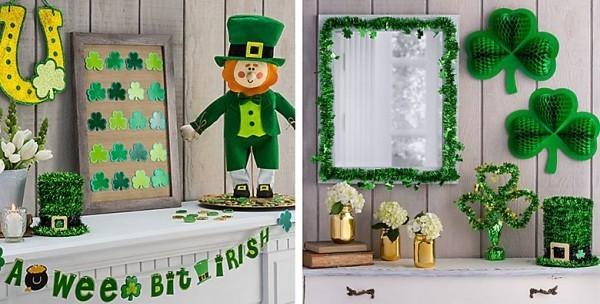 St. Patricks Day Partydeko zuhause in Grün