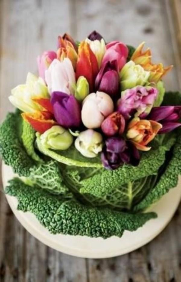 Tulpen im Interieur farbige Kontraste schaffen