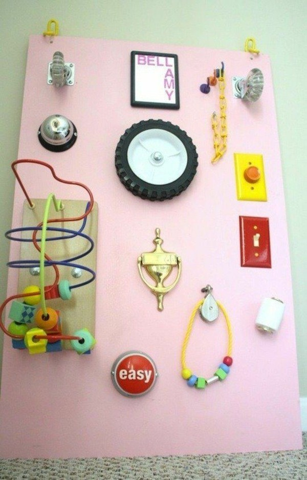 activity board selbst bauen diy busy board