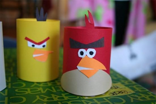 angry birds basteln mit klorollen
