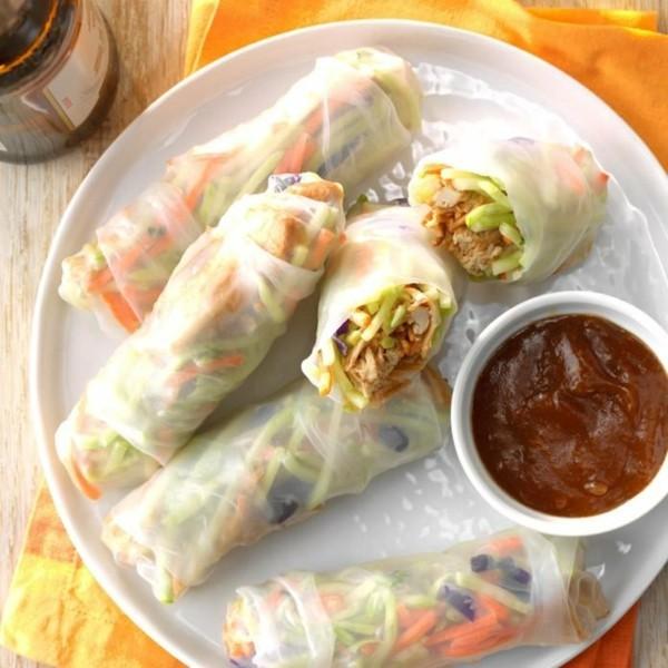 asiatische frühlingsrollen vegane fingerfood rezepte