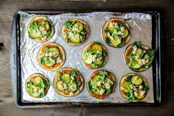 auberginen mini pizzen vegane fingerfood rezepte