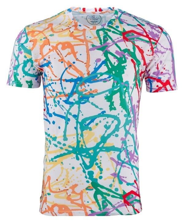 bedruckte T-Shirts Blau Grüne Rote