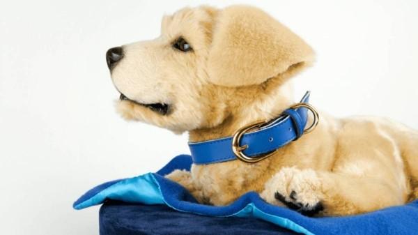 blaue deko hunderoboter
