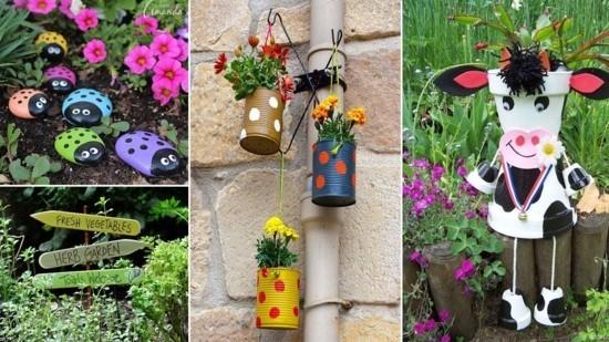 Upcycling Gartendeko selber machen - 70 ganz einfache ...