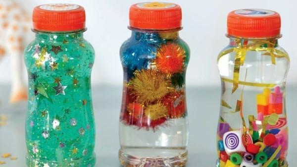 coole Kinderspielzeuge Sensorik Flaschen Ideen Spielzeug selber machen