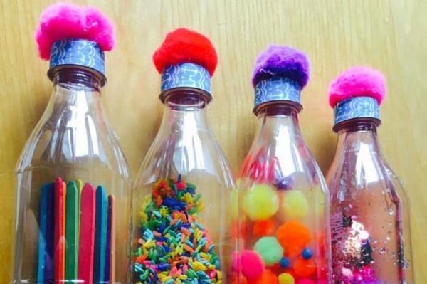 coole Kinderspielzeuge Sensorik Flaschen Spielzeug selber machen