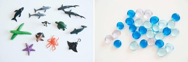 coole Kinderspielzeuge Sensorik Flaschen Unterwasserwelt Materialien Meerestiere