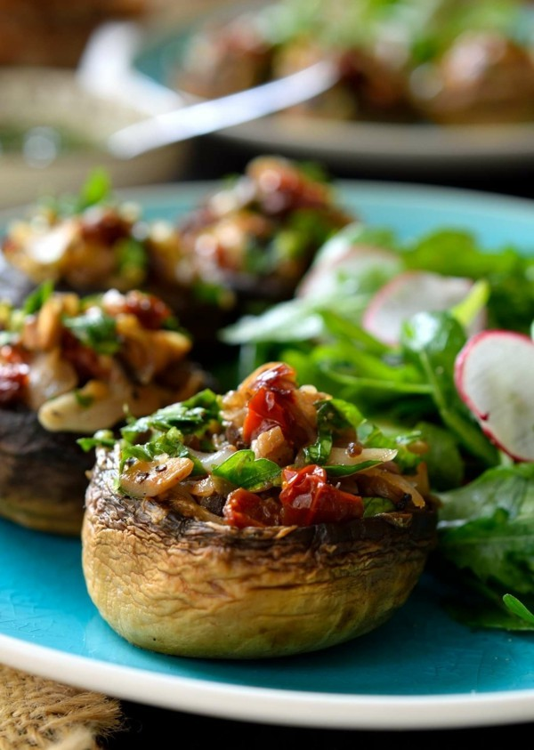fingerfood rezepte vegane überbackene pilze