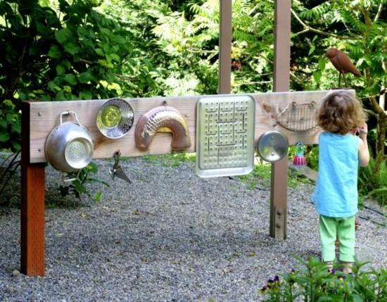 gartendeko ideen für kinder fühlwand
