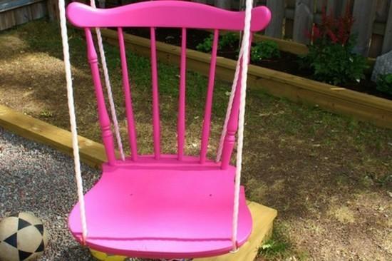 gartenschaukel kinder gartenschaukel kinderschaukel holz stuhl pink