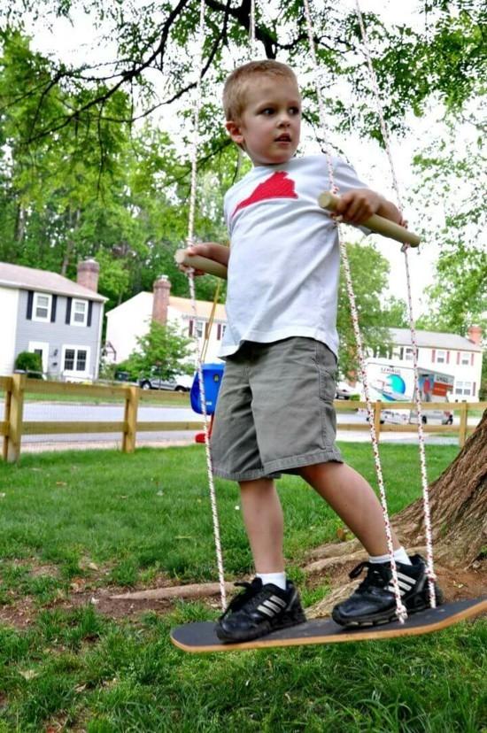 gartenschaukel kinder gartenschaukel kinderschaukel skateboard