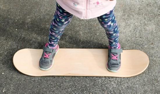 gartenschaukel kinder selber bauen kinderschaukel holz skateboard