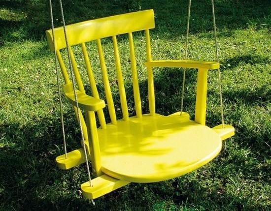 gartenschaukel kinder selber bauen kinderschaukel holz stuhl