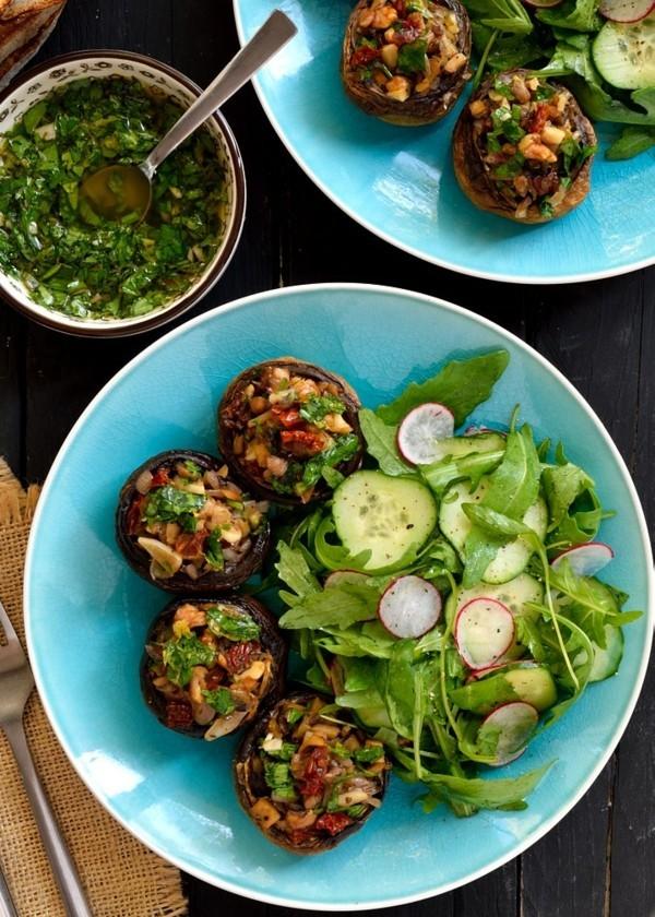 gefüllte vegane champignons als fingerfood rezepte