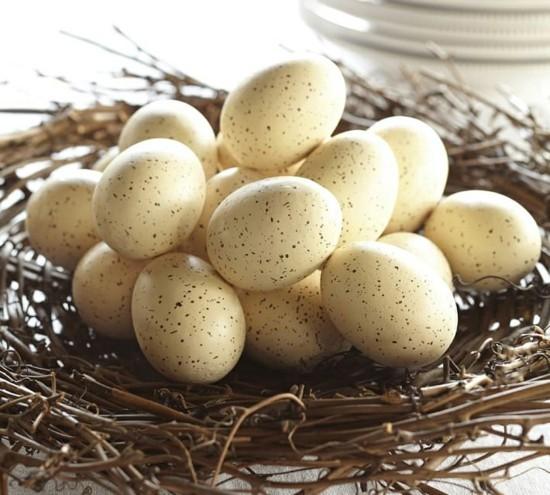 getupfte ostereier nest osterdeko ideen