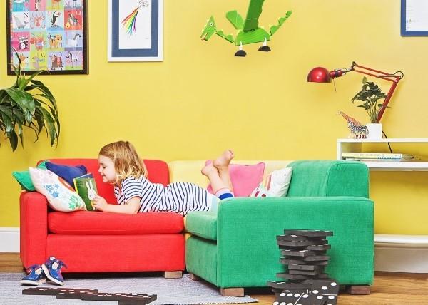 grün rot und gelb kidnermöbel