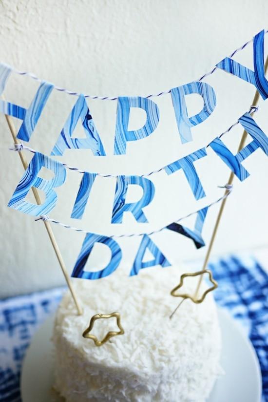 happy birthday kuchengirlande selber machen
