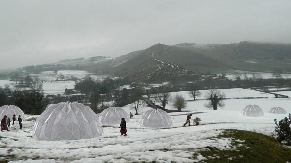 hi-tech zelten im winter