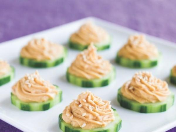 hummus gurken vegane fingerfood rezepte