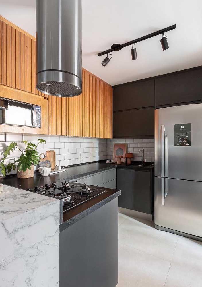 küchen - grau und braun Einrichtung Ideen