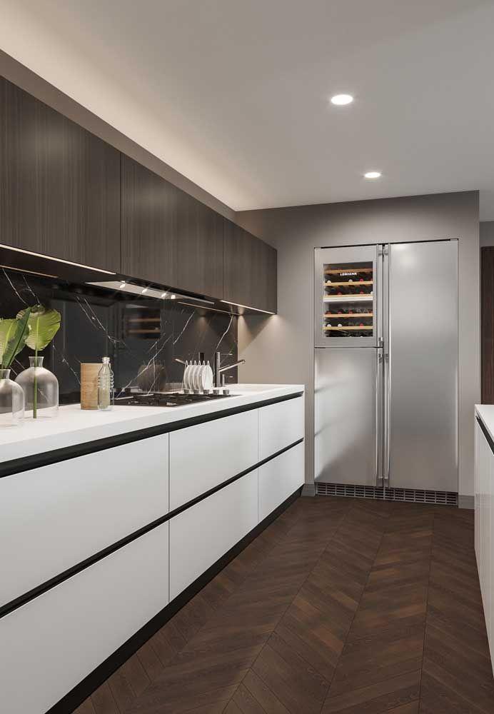 küchenraum länglich Einrichtung Ideen
