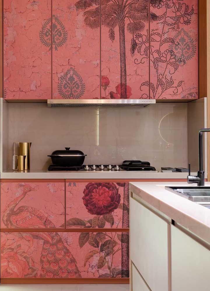 küchenschränge in einer Rosa Farbe Einrichtung Ideen