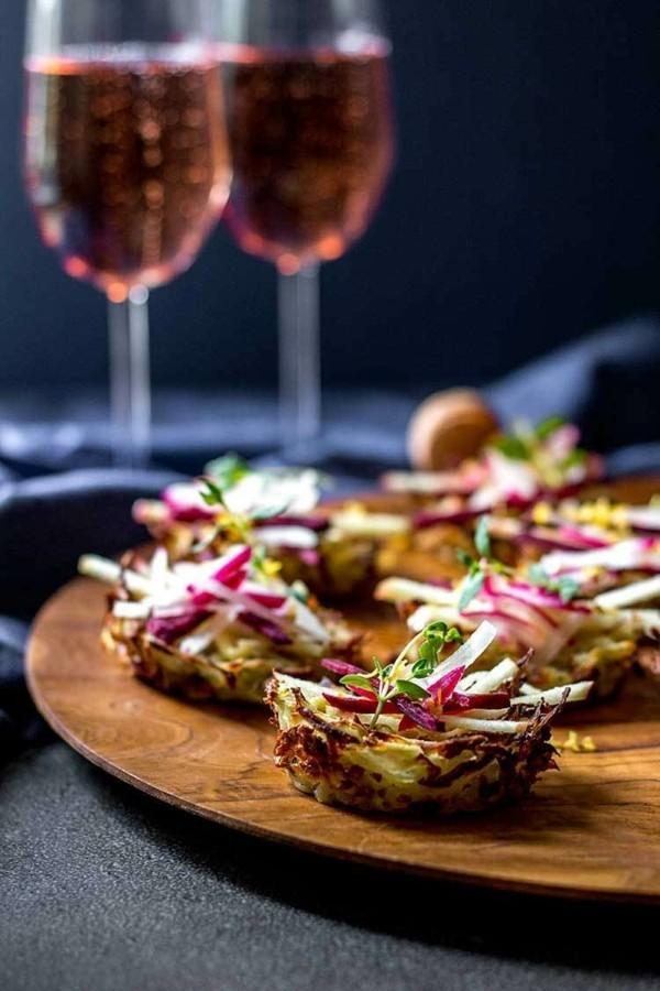 kartoffel nester vegane fingerfood rezepte