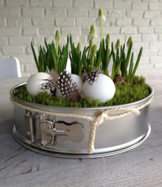 kuchenform upcycling idee fensterbank deko ostern